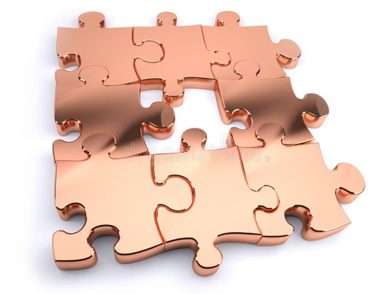 Puzzle di rame illustrazione di stock