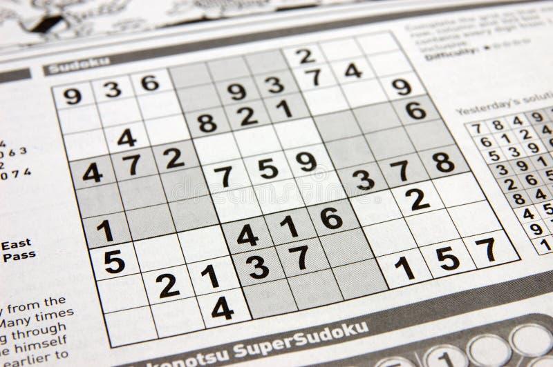 Puzzle di Sudoku immagini stock libere da diritti