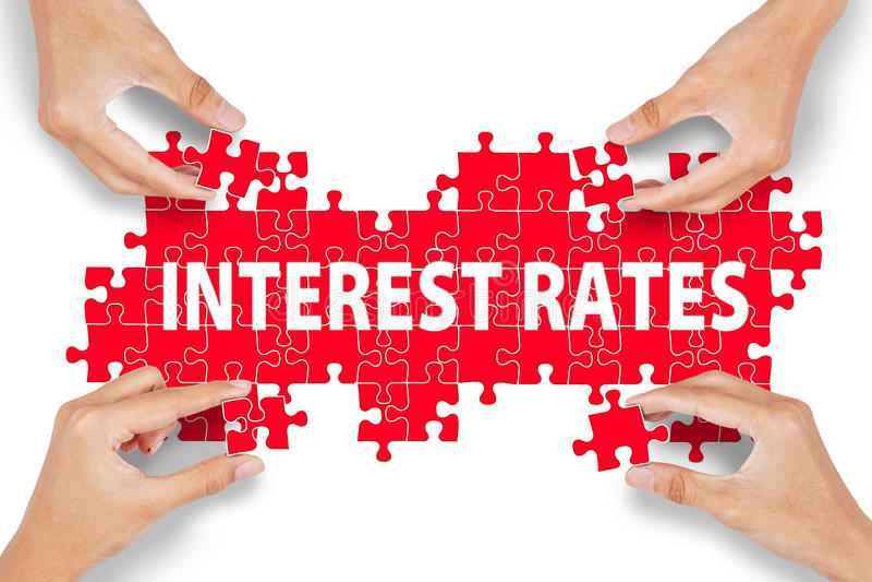 Puzzle di tassi di interesse fotografie stock libere da diritti