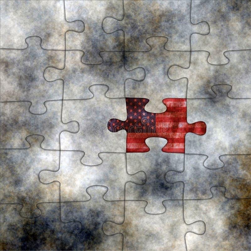 Puzzle di U.S.A. fotografia stock
