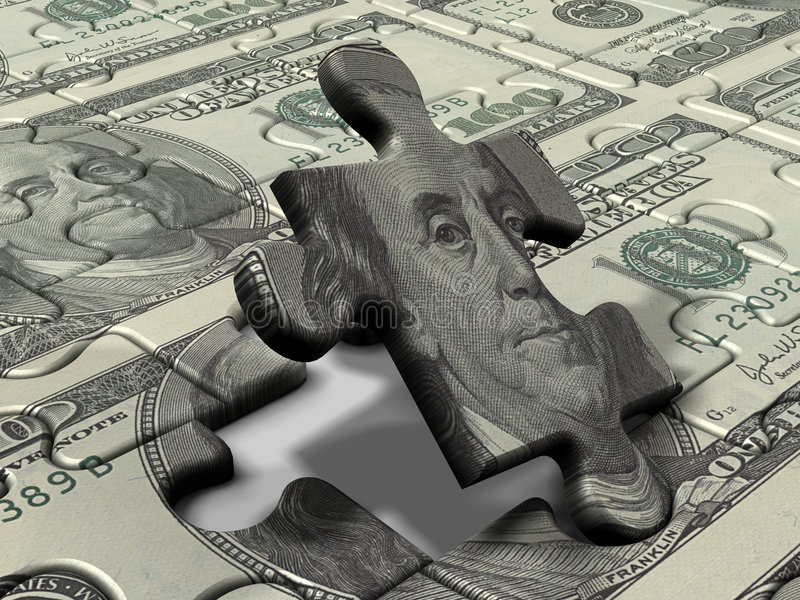 Download Puzzle Dollar stock photo. Image of spend, lottery, business - 1963570