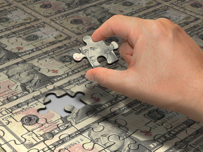 Puzzle Dollar royalty free stock photos