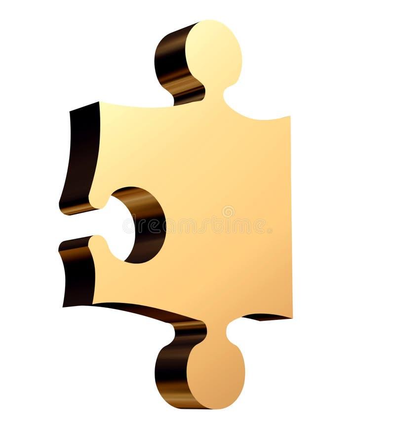 puzzle dorato 3D illustrazione vettoriale