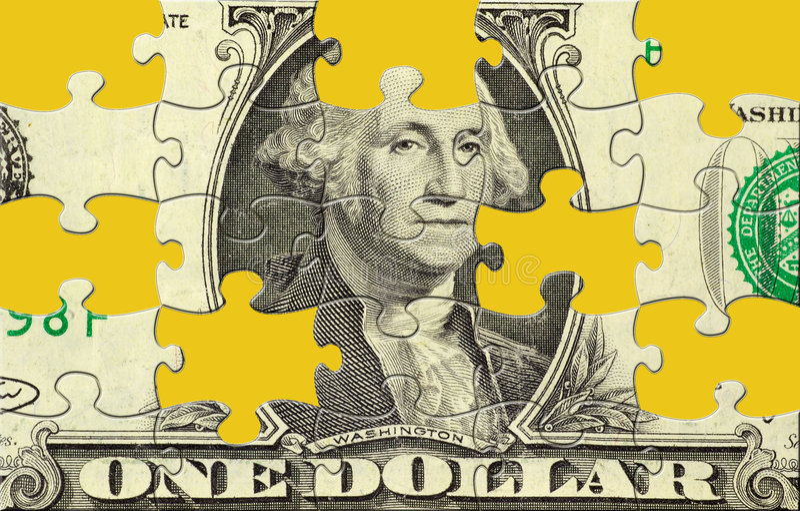 Puzzle du dollar illustration stock