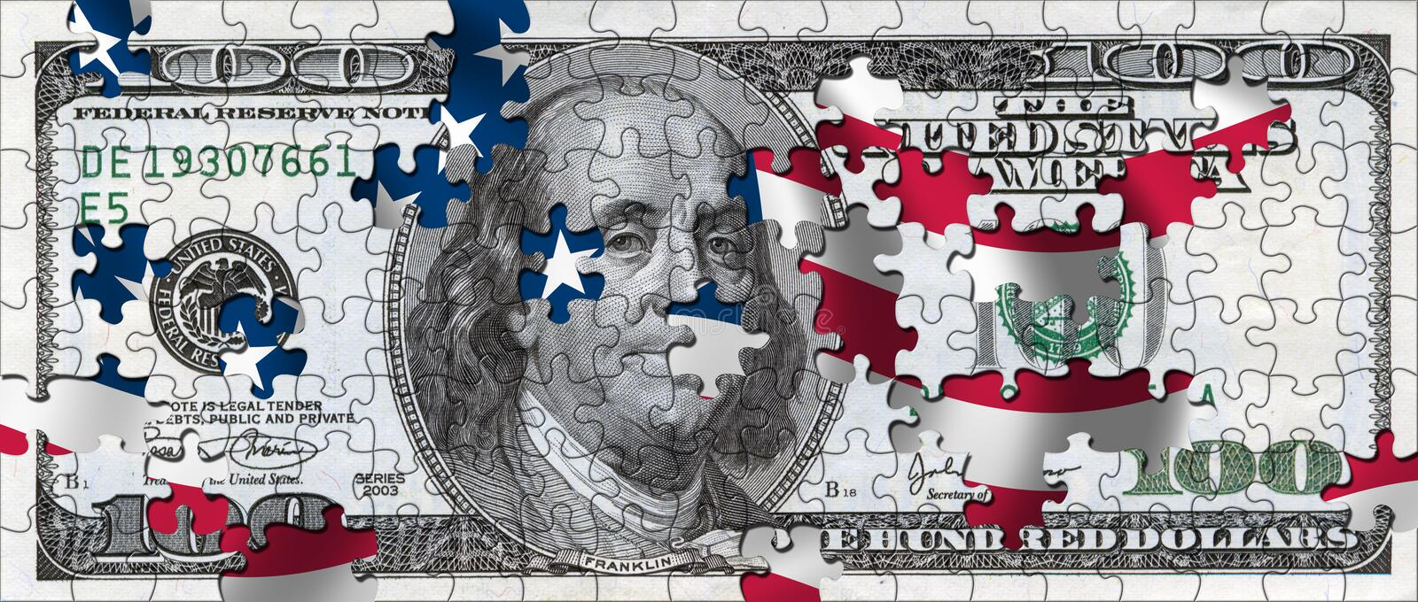 puzzle du dollar illustration de vecteur