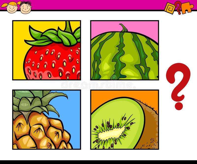 Puzzle educativo per i bambini in età prescolare illustrazione vettoriale