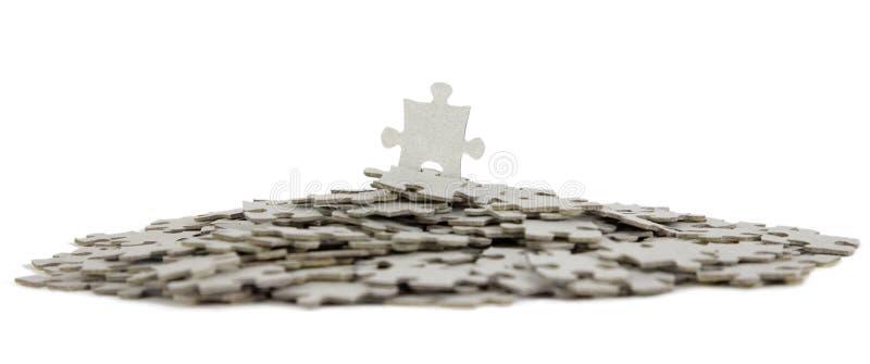 Puzzle, Erfolg im Geschäftskonzept stockfoto