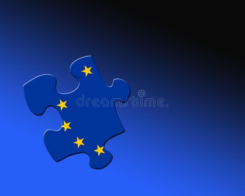 Puzzle européen illustration libre de droits