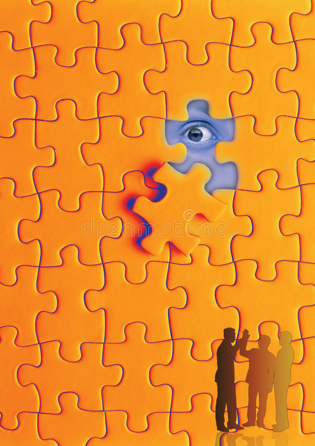 puzzle eye stock photos