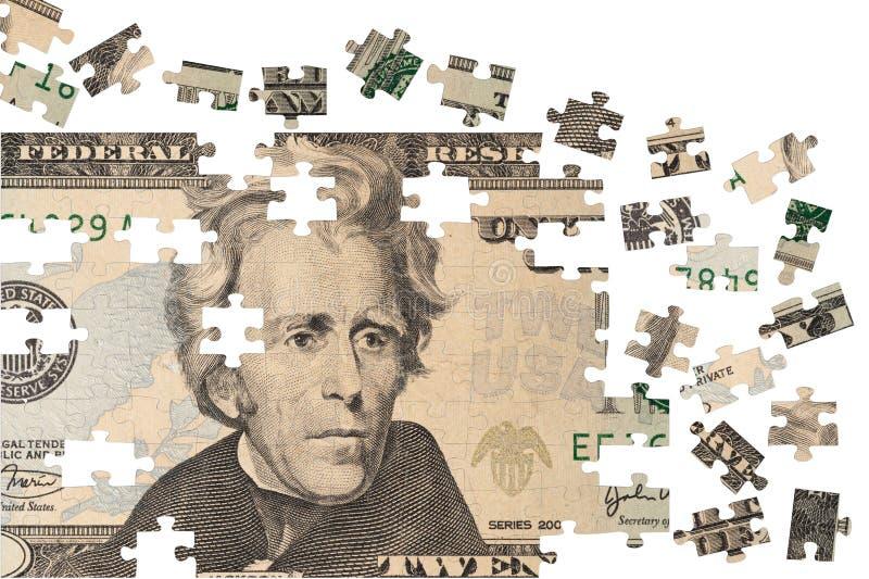 Puzzle finanziario fotografia stock libera da diritti