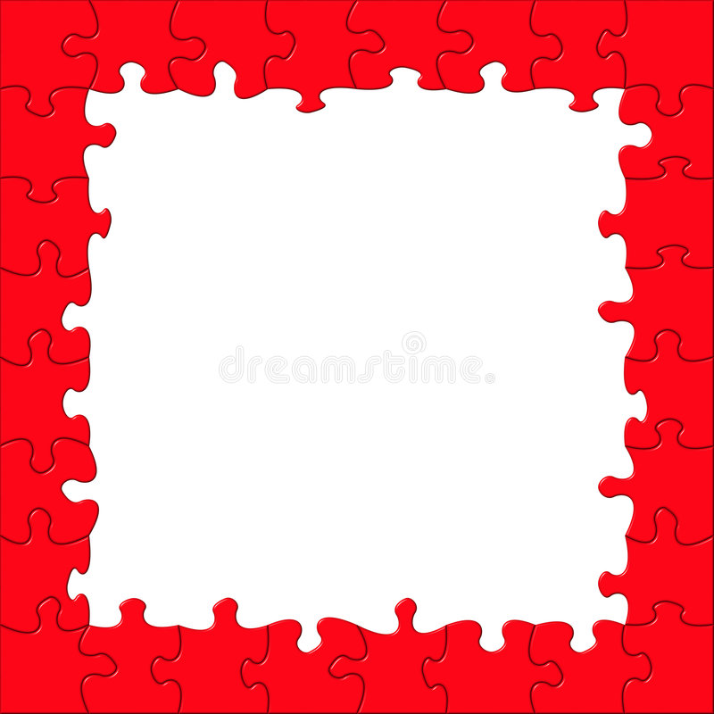 Puzzle frame royalty free stock images