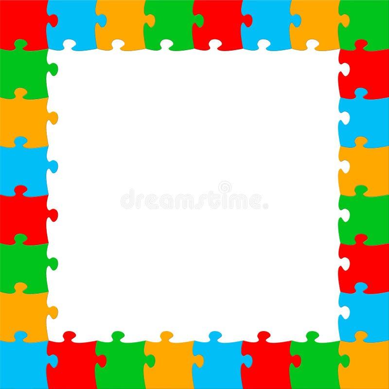 Puzzle frame stock illustration. Illustration of illustration - 40861057