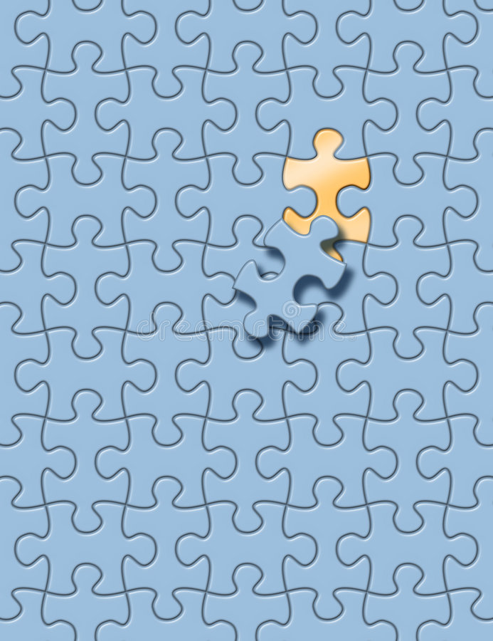 Puzzle game royalty free illustration