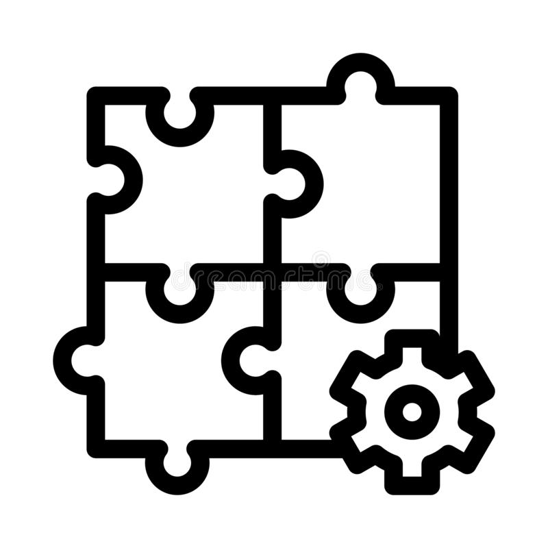 Puzzle Game And Gear Agile Element Vector Icon vector illustration