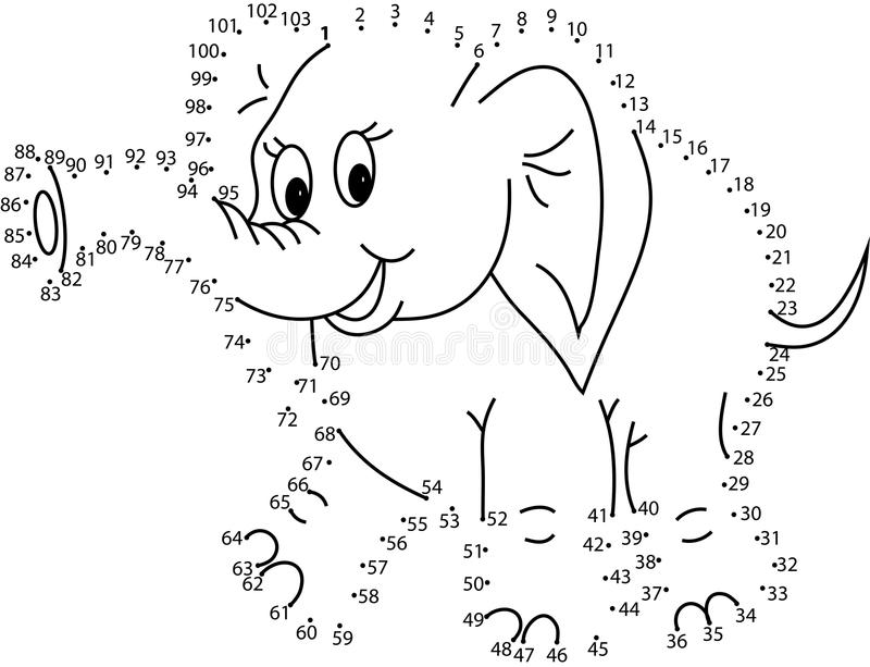 Puzzle game for kids : elephant vector illustration