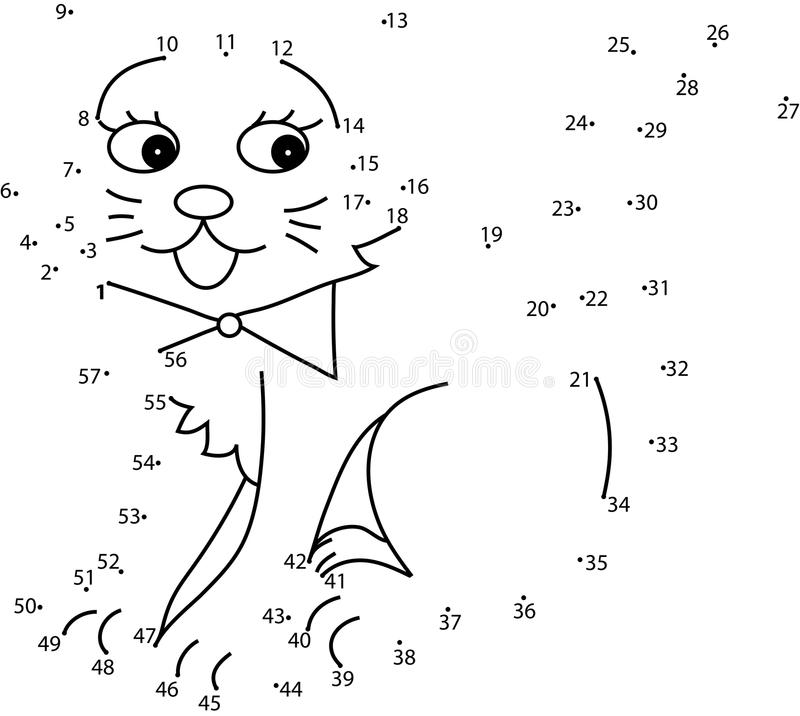 Puzzle game for kids : cat. Puzzle game for kids : the cat vector illustration