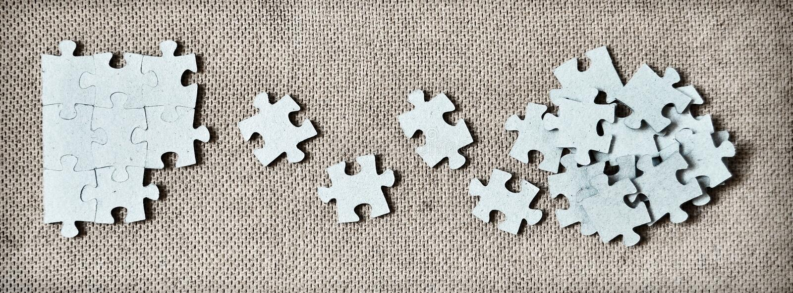 Puzzle game. Playing puzzle game abstract concept royalty free stock image