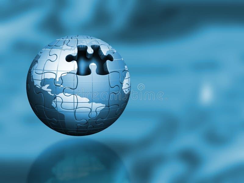 Puzzle globe royalty free illustration