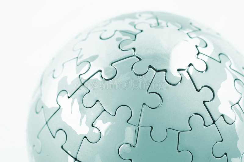 Puzzle globe. Isolated over a white background