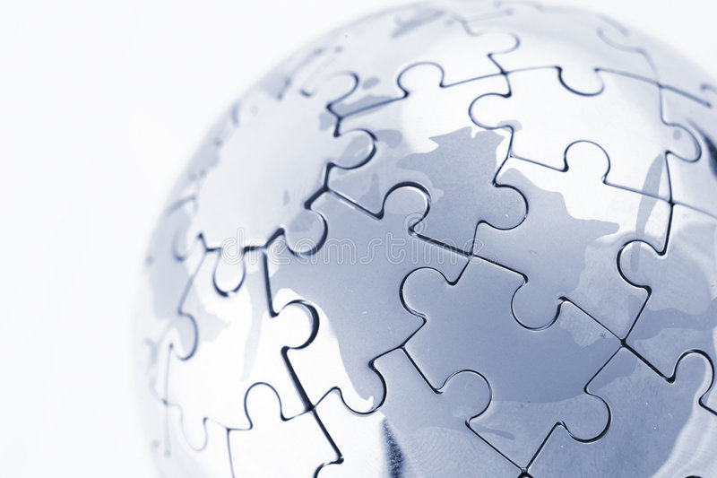 Download Puzzle globe stock image. Image of missing, international - 9314261