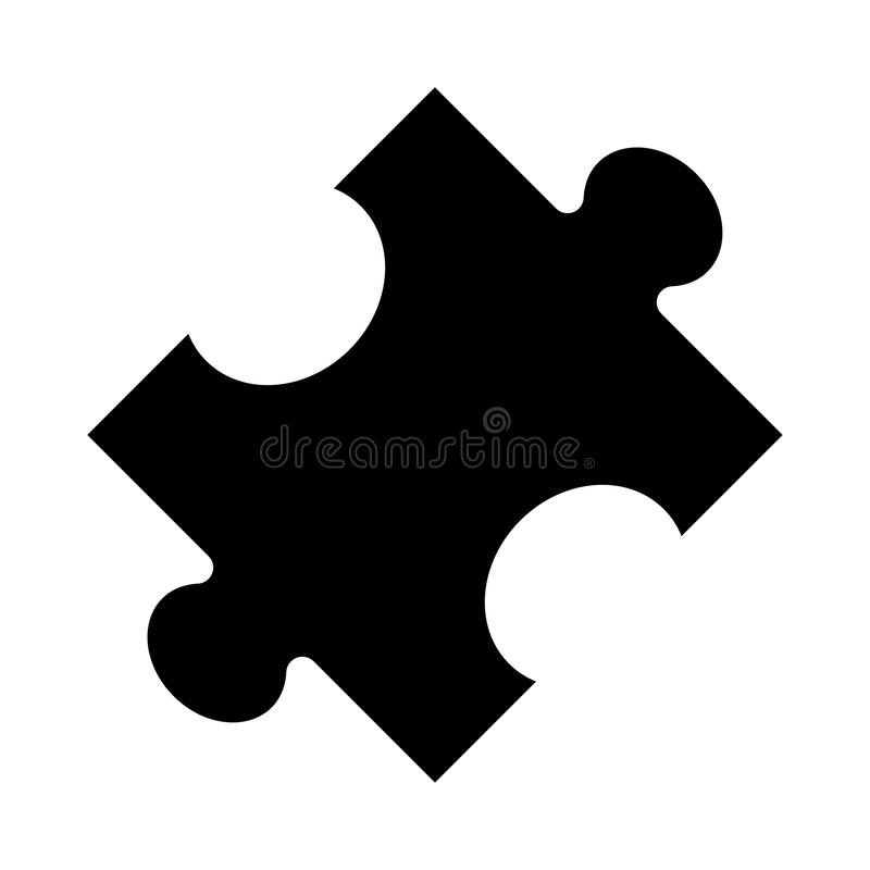 Puzzle glyphs icon. Puzzle Vector glyphs Icon. Elements for mobile concept and web apps. Thin line icons for website design and development, app development stock illustration