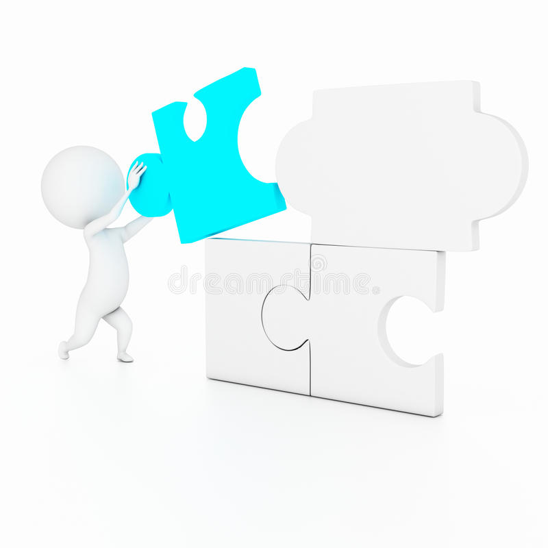 Download Puzzle guy stock illustration. Illustration of simple - 21437370