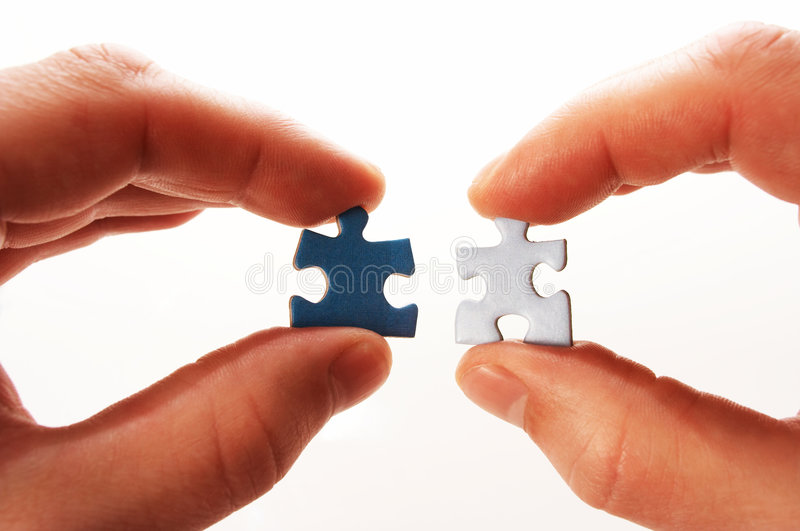Download Puzzle in hand stock photo. Image of form, business, part - 854086