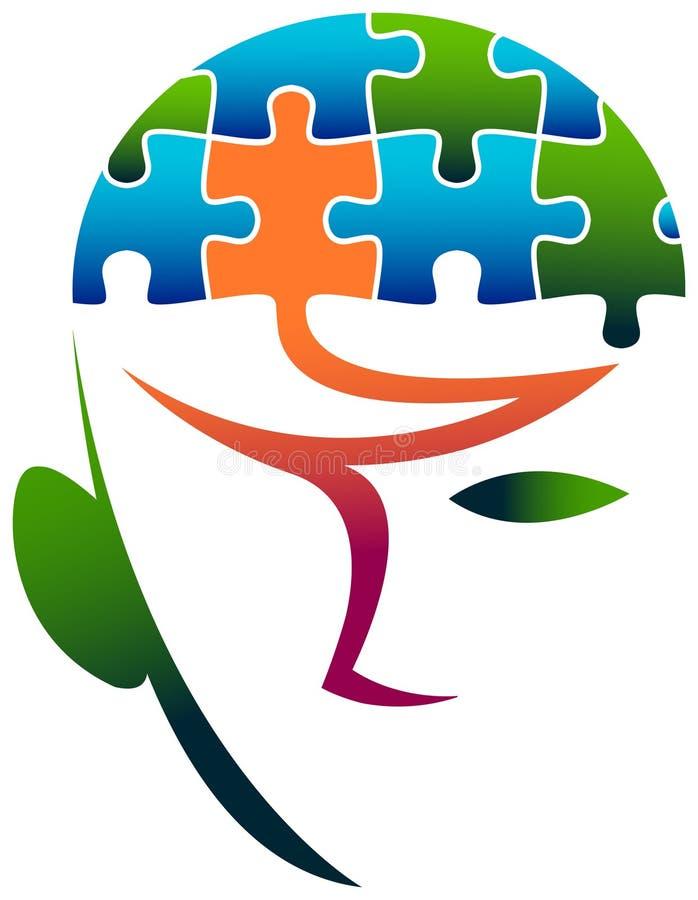 Puzzle head royalty free illustration