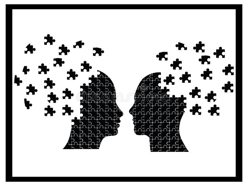 Download Puzzle heads explosion stock vector. Image of inspiration - 16484951