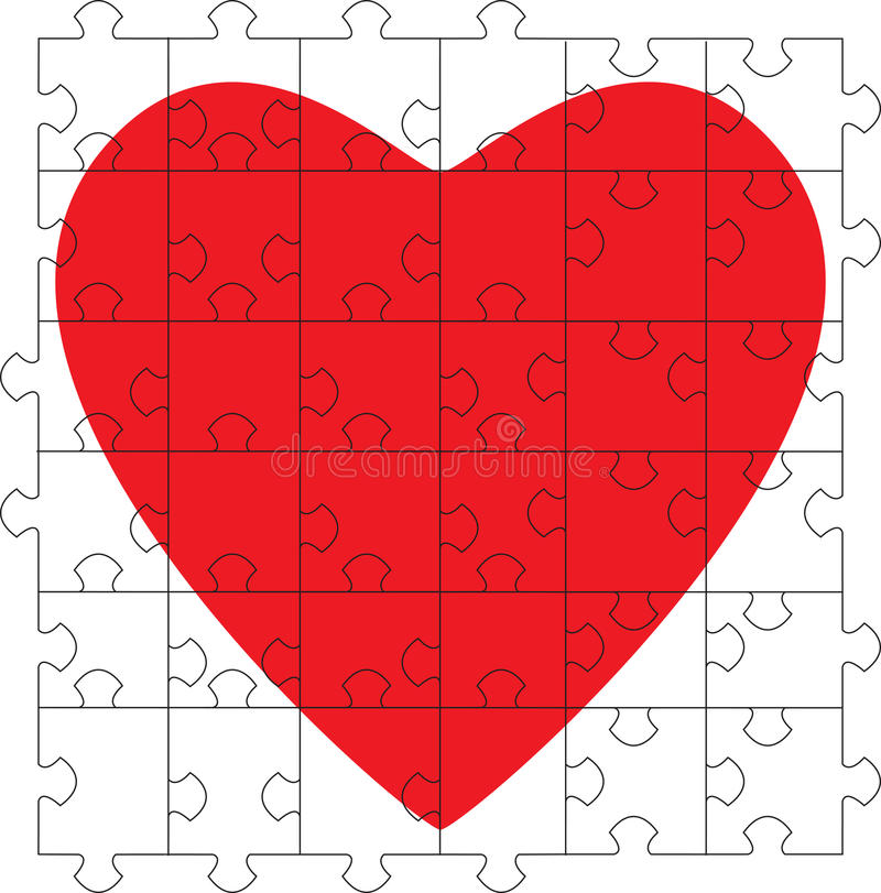 Free Puzzle Heart Royalty Free Stock Image - 12523916