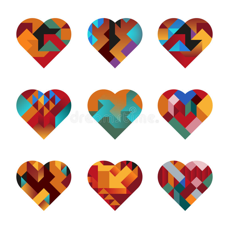 Download Puzzle Hearts stock vector. Image of creativity, health - 27845006