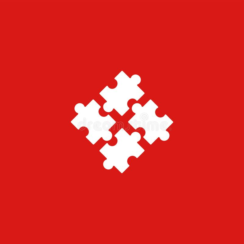 Puzzle icon illustration isolated vector . vector illustration
