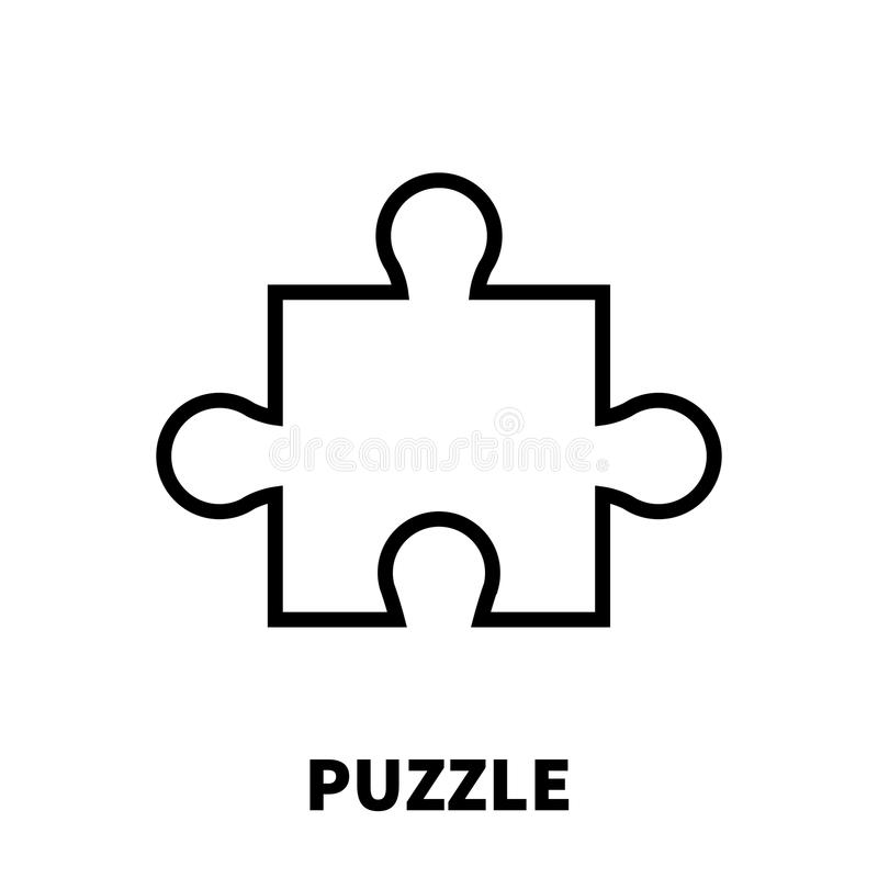 Puzzle icon or logo in modern line style. vector illustration