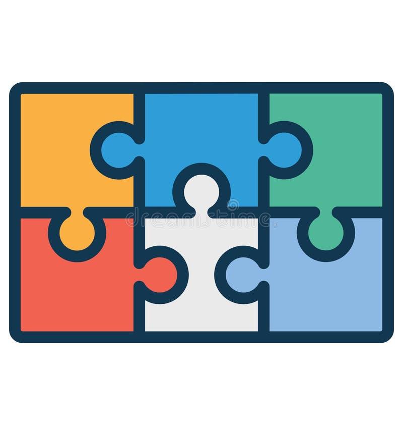 Puzzle, icona di vettore isolata pezzo che può essere molto facilmente di pubblicare o ha modificato illustrazione vettoriale