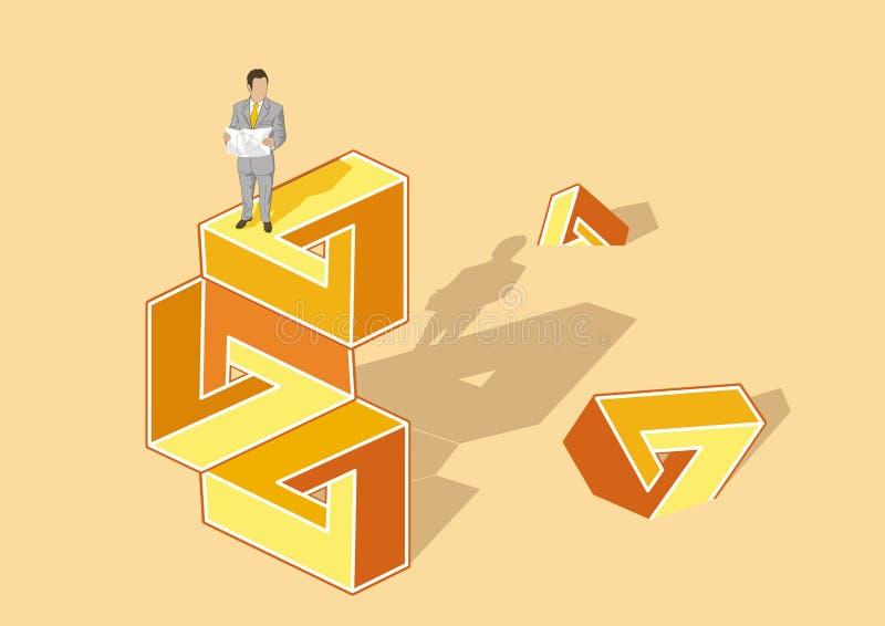 Puzzle impossibili illustrazione vettoriale