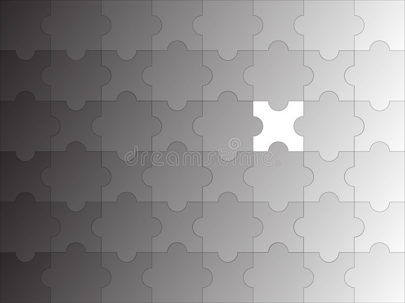 Puzzle incomplete gradient. Illustration of a puzzle incomplete gradient royalty free illustration