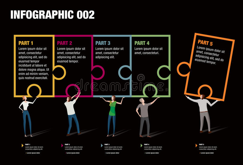 Puzzle Infographic royalty free illustration