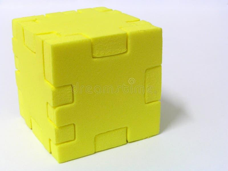 Puzzle - JAUNE image libre de droits
