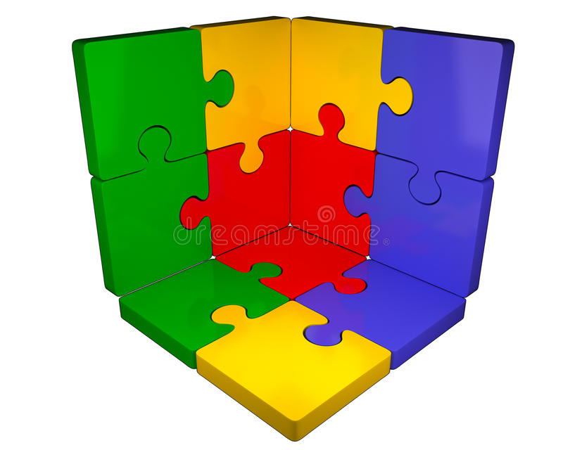 Download Puzzle, jigsaw stock illustration. Image of four, connected - 16718161
