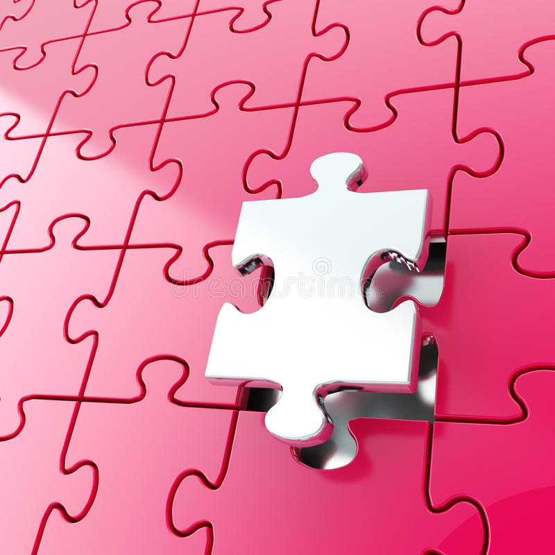 Download Puzzle Jigsaw Background With One Piece Stand Out Stock Illustration - Image: 34510963