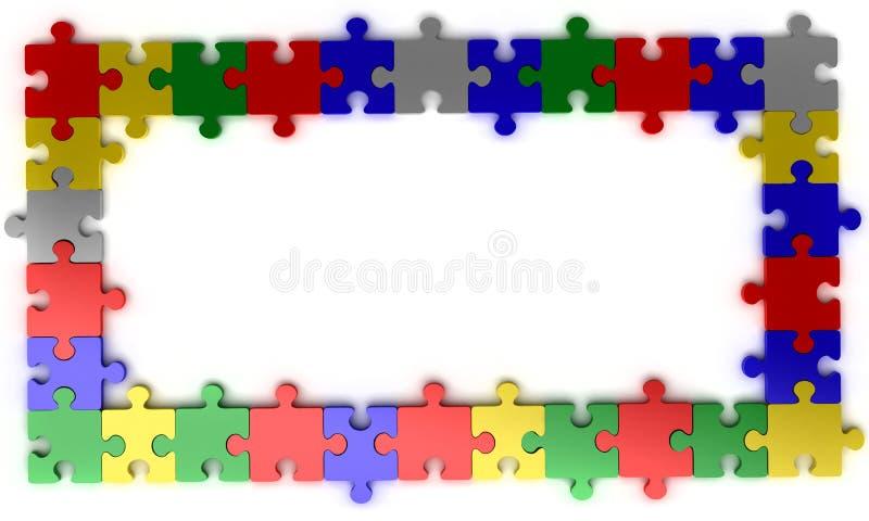 Download Puzzle jigsaw frame stock illustration. Illustration of pattern - 21969550