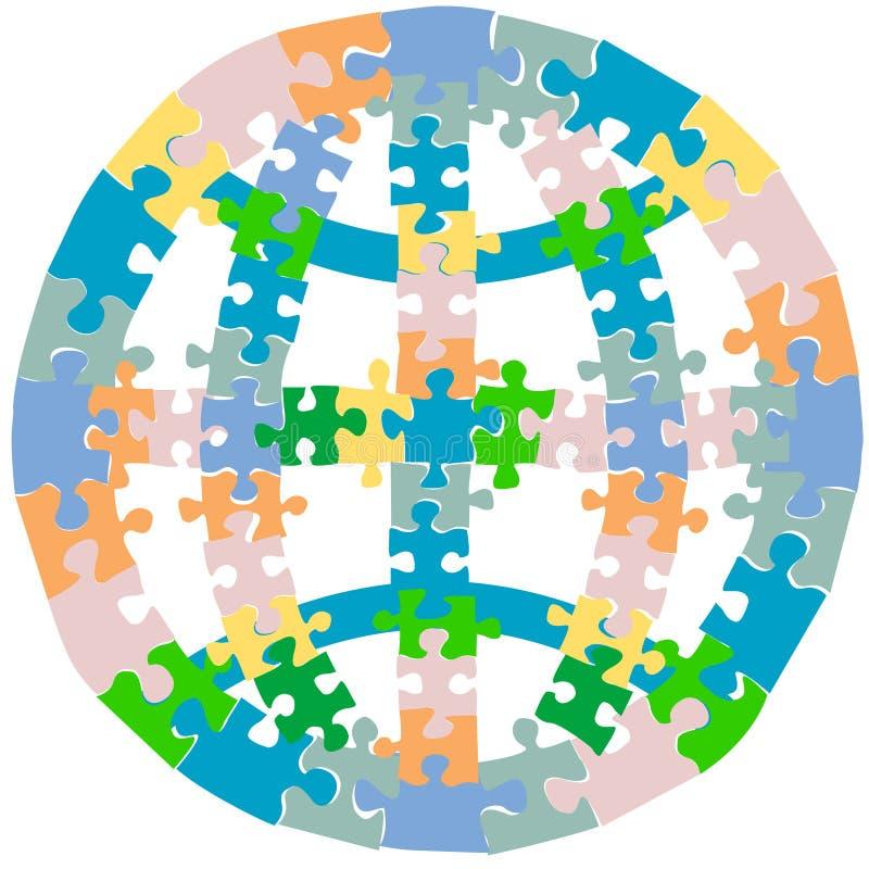 Puzzle-Kugel stock abbildung