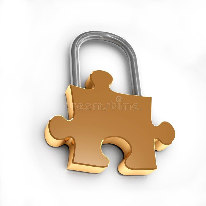 Download Puzzle lock stock illustration. Image of alert, metal - 7280431
