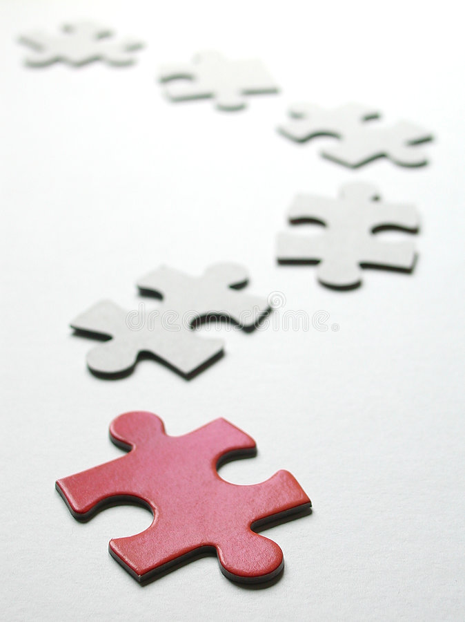 Puzzle - Looking for the right place stock images