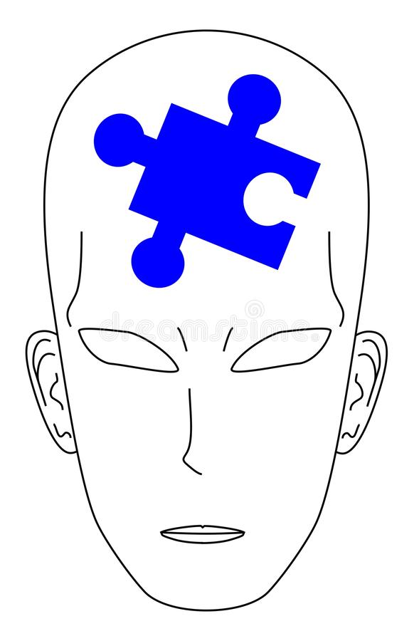 Download Puzzle man blue stock vector. Image of find, being, imagination - 16872188