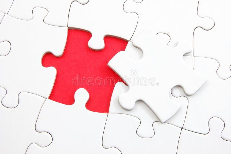 puzzle manquant blanc de partie photographie stock