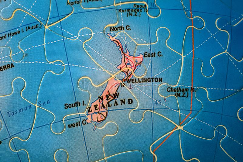 Puzzle map of New Zealand stock photography
