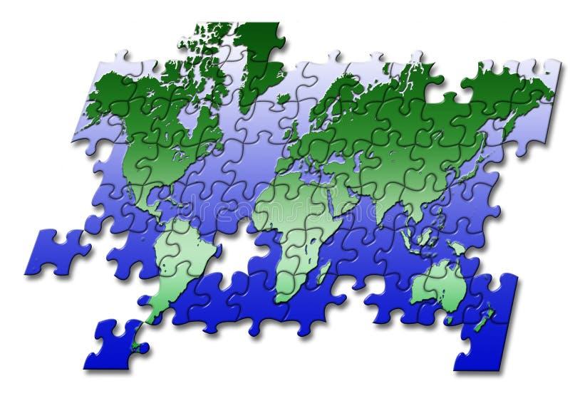 puzzle mapy świata ilustracji