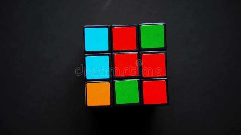 Puzzle matematico del cubo fotografia stock
