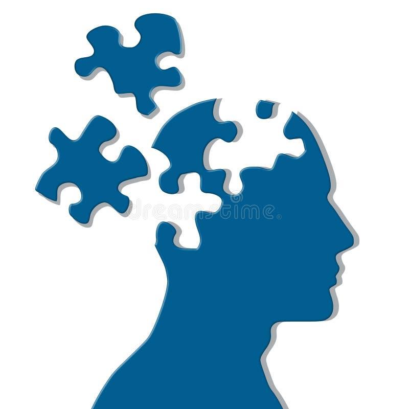 Puzzle mental de parties manquantes illustration stock